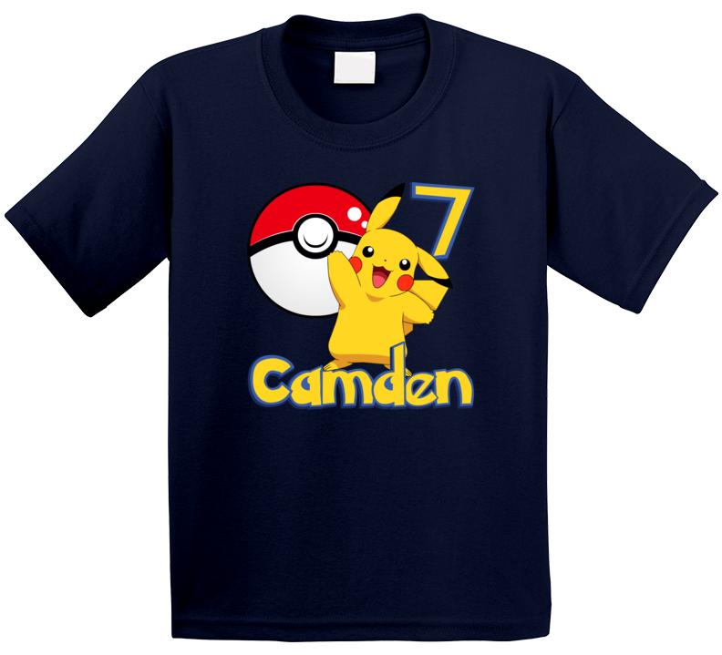 Pikachu Birthday Camden 7 T Shirt