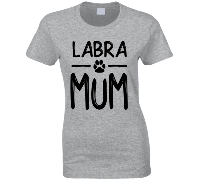 Labrador Mum  Labramum Ladies T Shirt