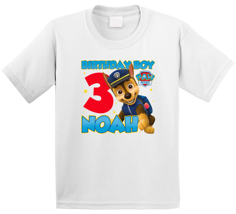 Paw Patrol Birthday Noah 3 Three T Shirt