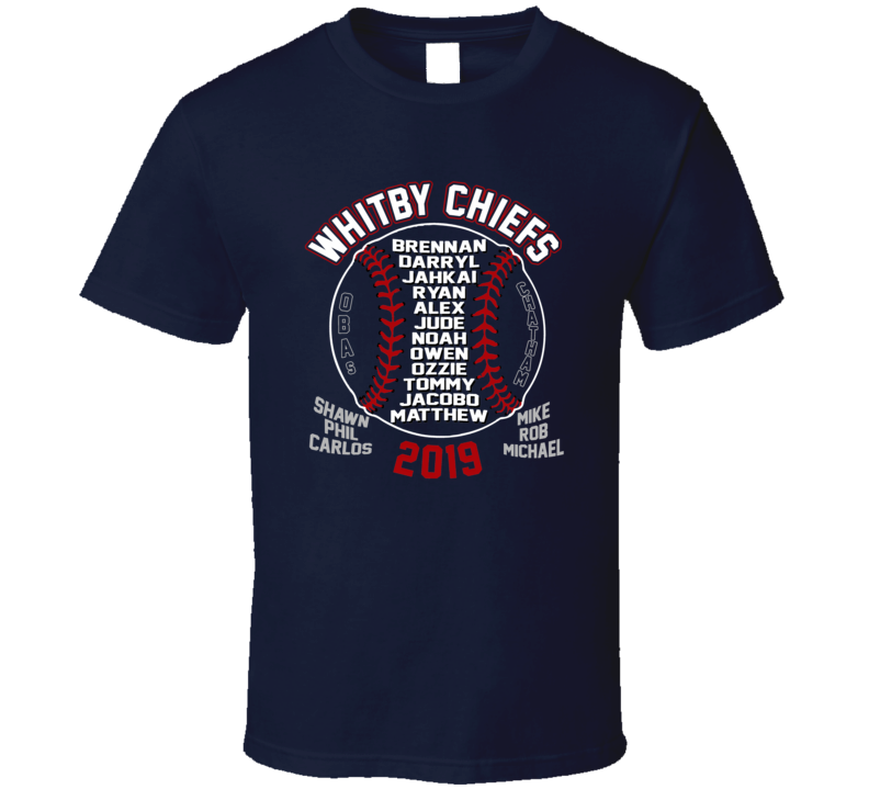 Whitby Chiefs Oba 2019 Chatham T Shirt