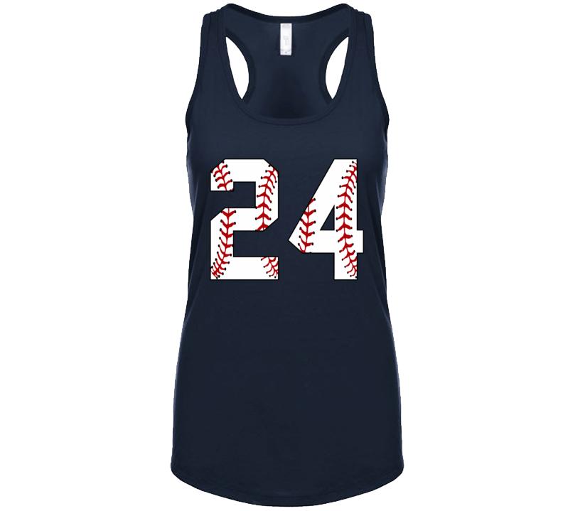 Baseball Jersey Number 24 Tanktop