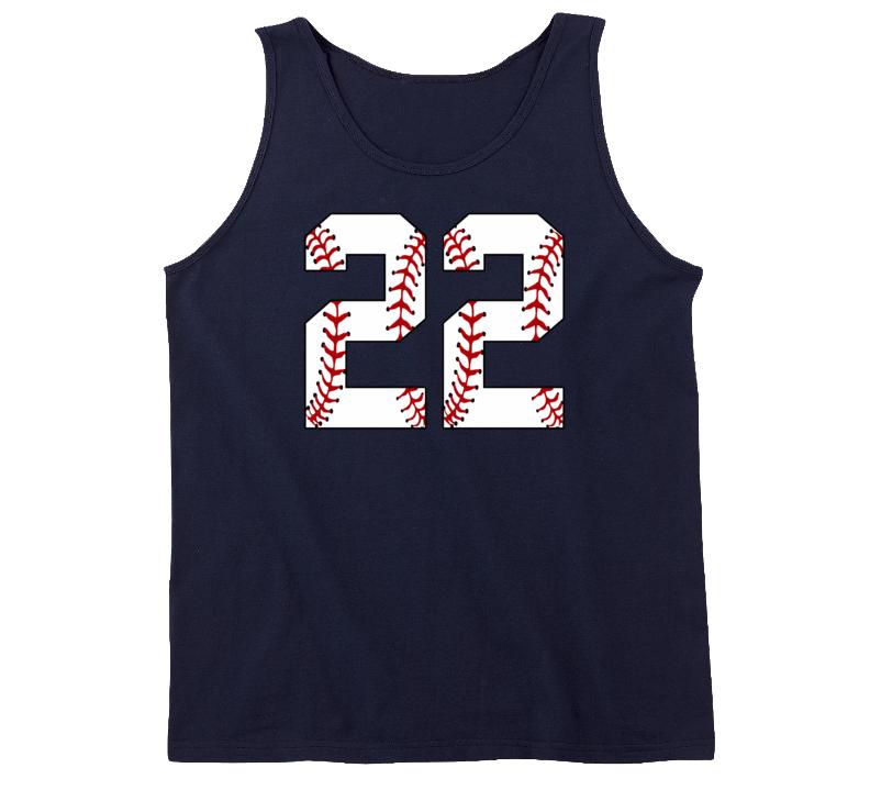 Baseball Jersey Number 22 Tanktop