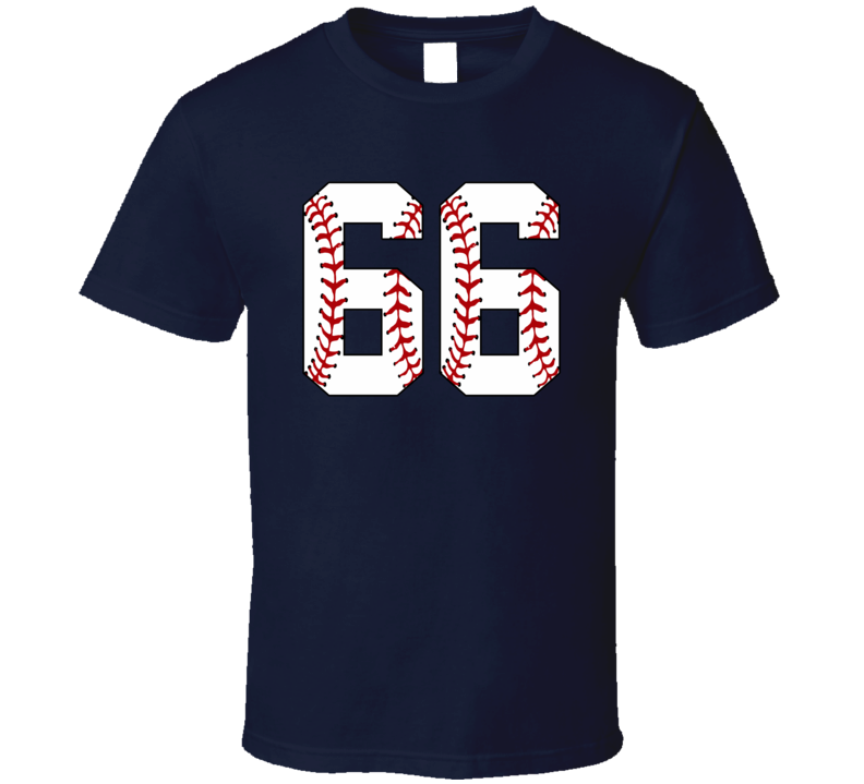 Baseball Jersey Number 66 T Shirt