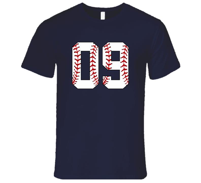 Baseball Jersey Number 09 T Shirt