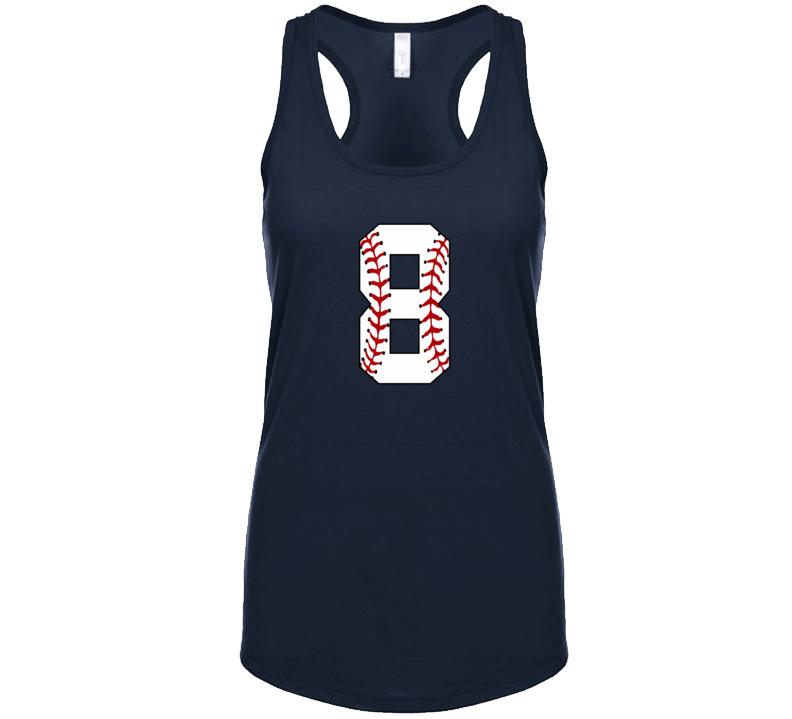Baseball Jersey Number 8 Tanktop