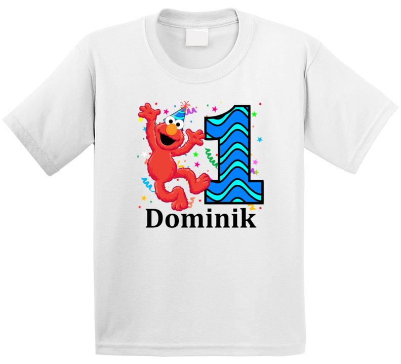 Dominik's 1st Birthday Elmo Themed T Shirt