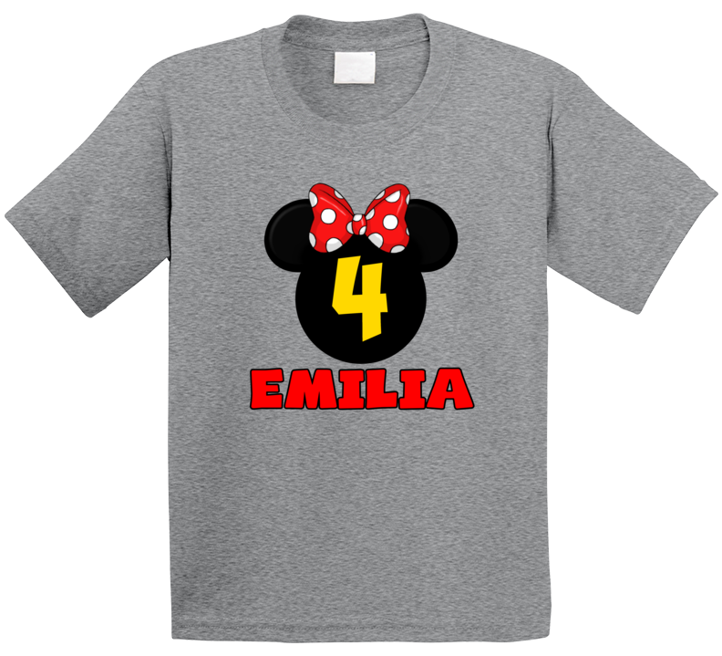 Minnie Birthday 4 Years Old Emilia T Shirt