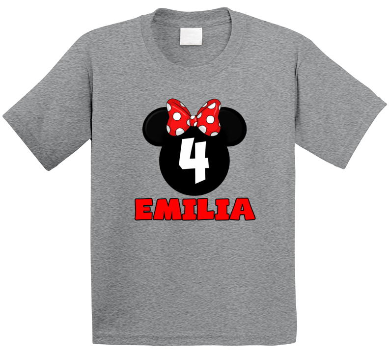 Minnie Birthday 4 Years Old Atom T Shirt
