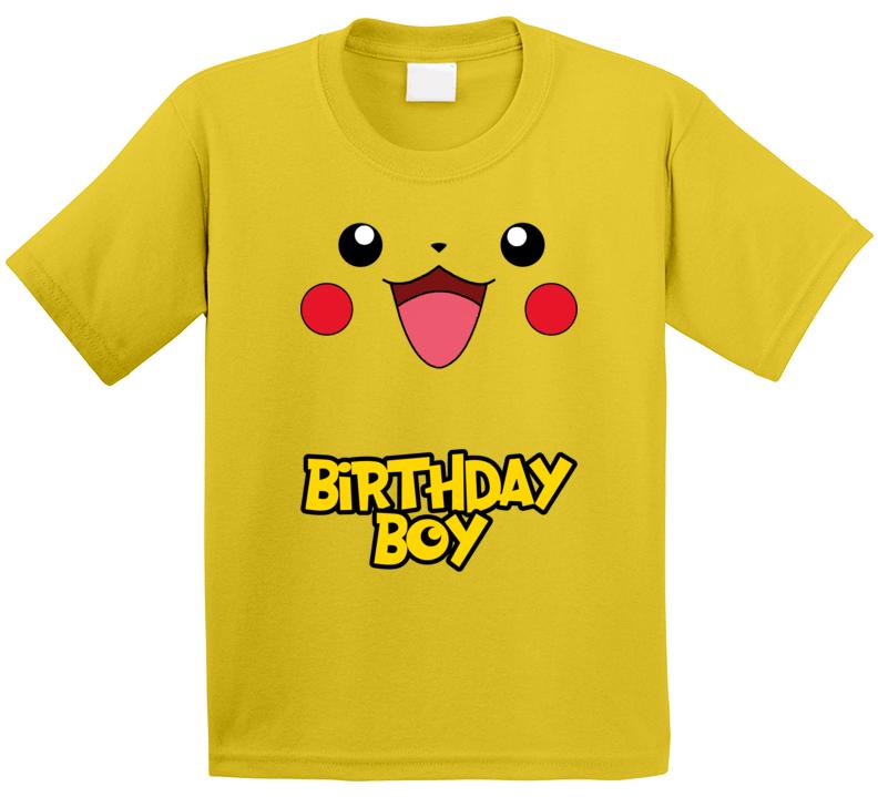 Pikachu Birthday Boy T Shirt