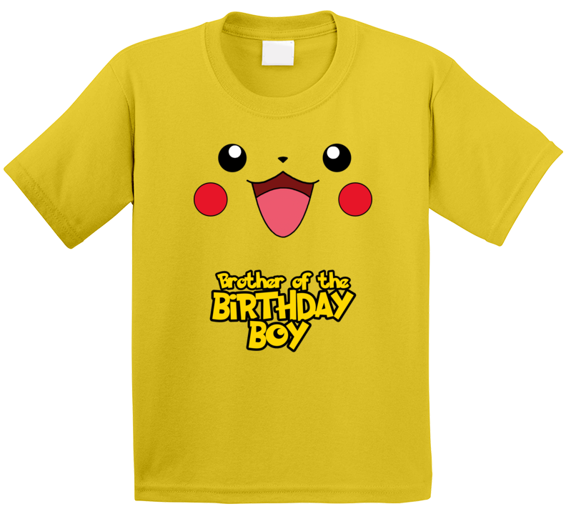Pikachu - Brother Of The The Birthday Boy T Shirt