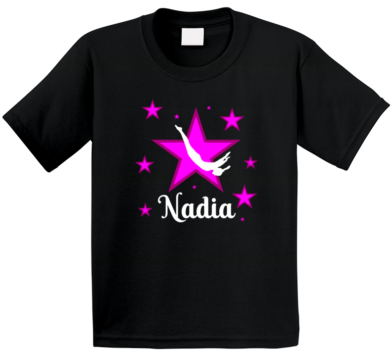 Gymnast Birthday With Name T Shirt