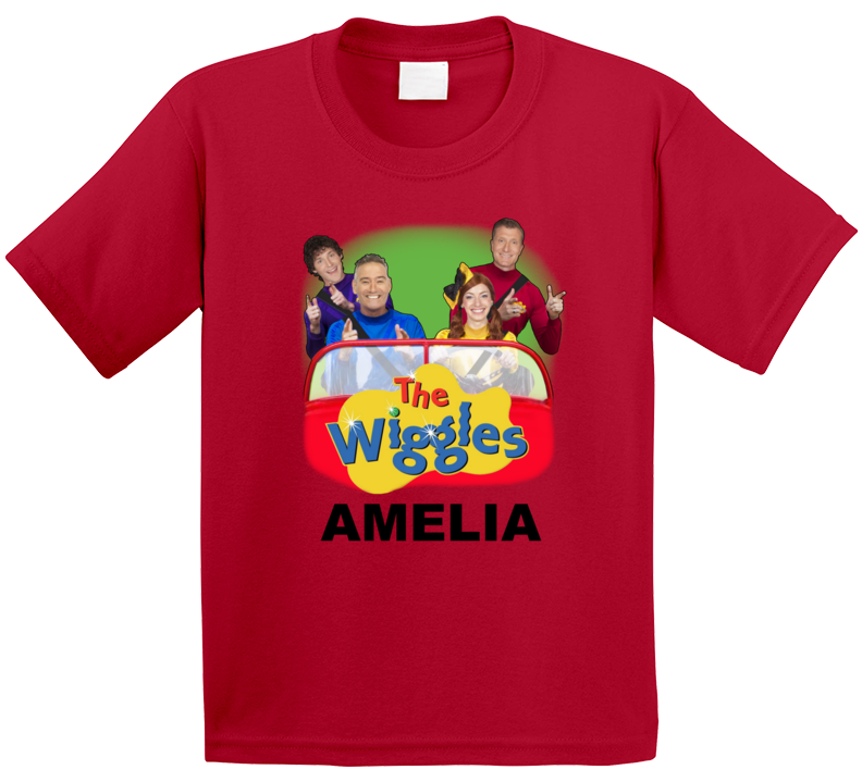 The Wiggles Car With Custom Name T Shirt