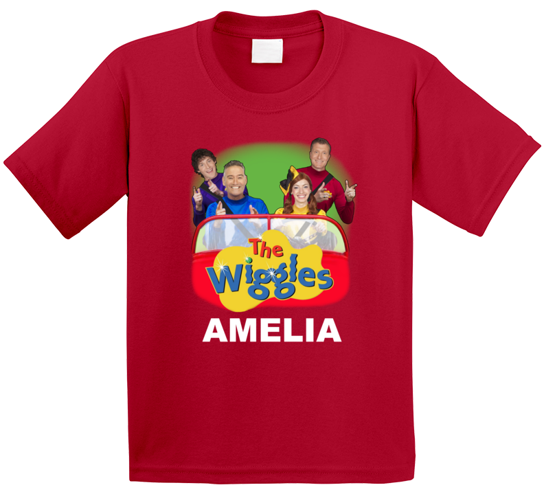 The Wiggles In Car With Name T Shirt