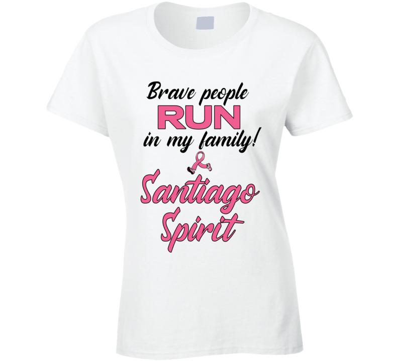 Santiago Spirit - Breast Cancer Awareness Run Ladies T Shirt