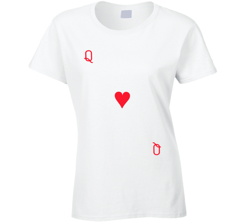 Queen Of Hearts - Suit Of Cards Costume Ladies T Shirt