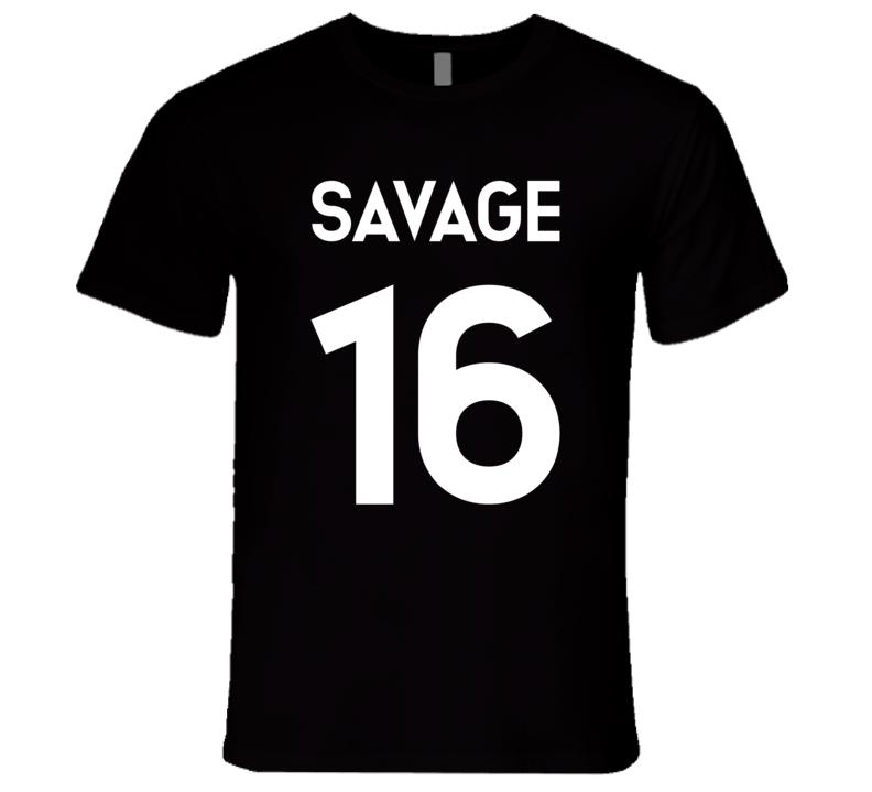 Savage #16 Jersey Style T Shirt