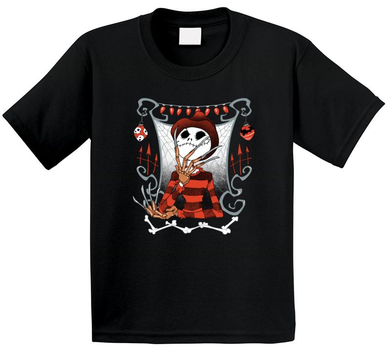 Jack Skellington Freddy Kreuger The Nightmare Before Christmas Parody T Shirt