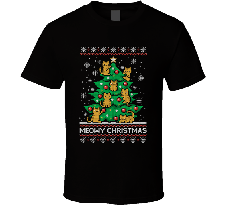 Meow-y Christmas T Shirt