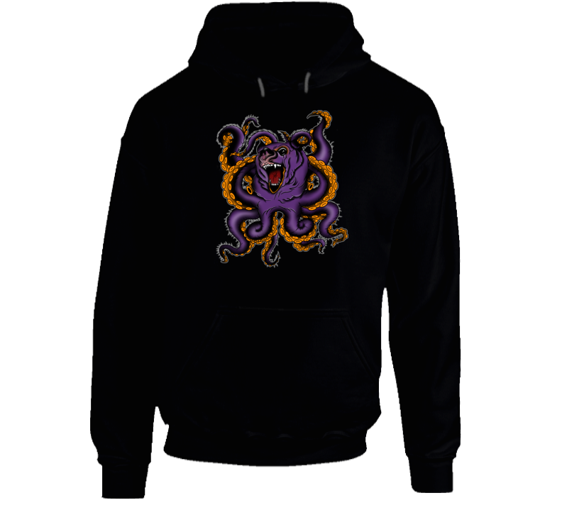 Bear Octopus Art By J. Wood Hoodie