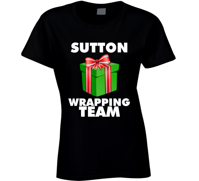 Wrapping Team - Add Your Name Or Business Ladies T Shirt