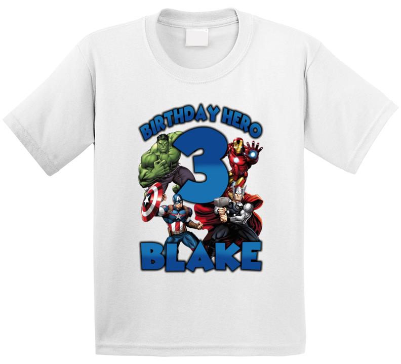 Birthday Hero (add Name And Age) T Shirt