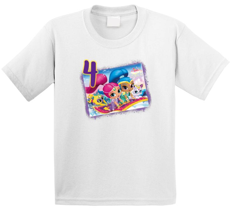 Shimmer & Shine 4th Birthday T Shirt