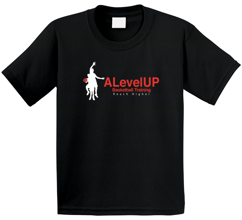 Alevelup Basketball Training Reach Higher Promotional T Shirt