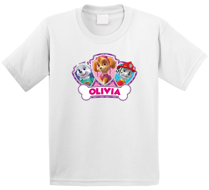 Paw Patrol Girl Birthday ( Customize With Name) T Shirt