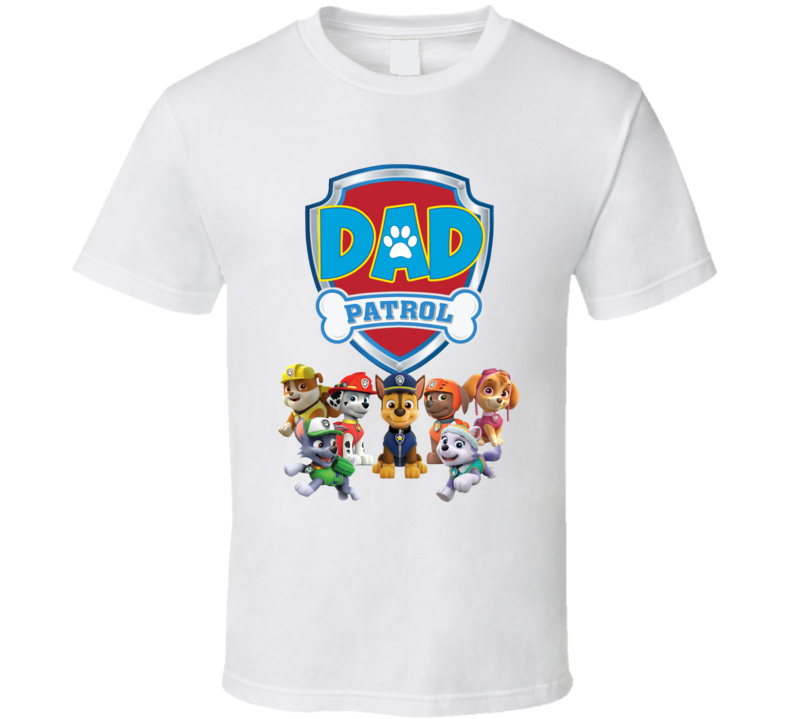 Paw Patrol Dad T Shirt