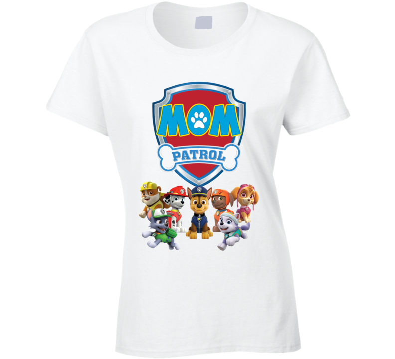 Paw Patrol Mom Ladies T Shirt