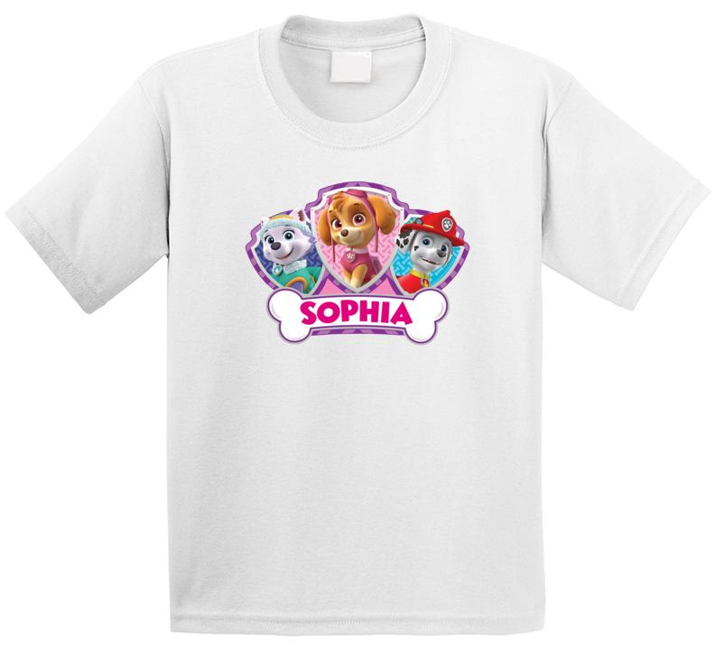 Paw Patrol Girl Birthday ( Customize With Name) T Shirt