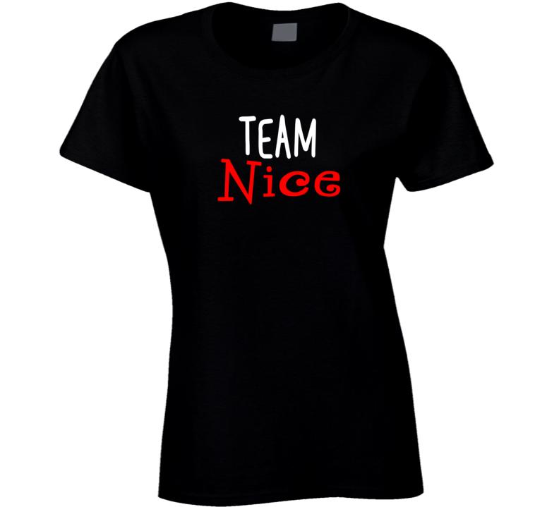Team Naughty / Nice - Nice Ladies T Shirt