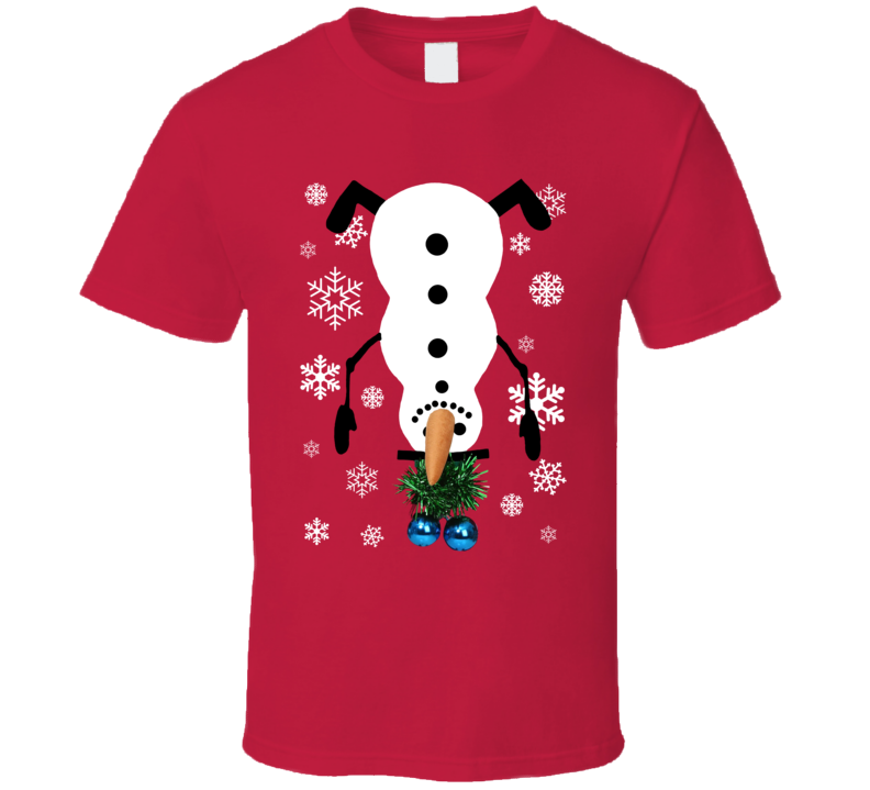 This Is My Ugly Christmas Snowman Sweater T Shirt