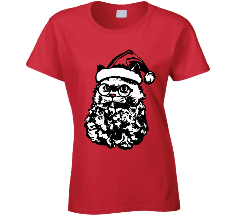 Santa Paws Ladies T Shirt