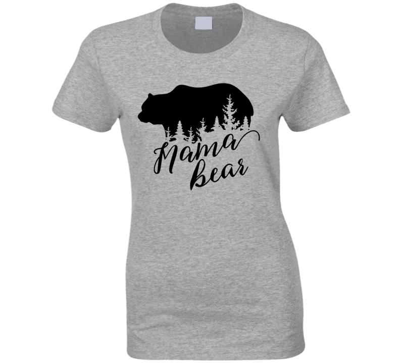 Bear Family - Mama Bear Ladies T Shirt