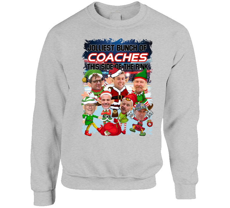 Jolliest Bunch Of Coaches This Side Of The Rink Crewneck Sweatshirt