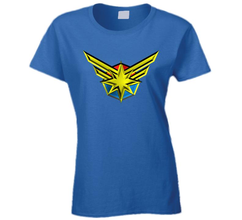 Captain Marvel Ladies T Shirt