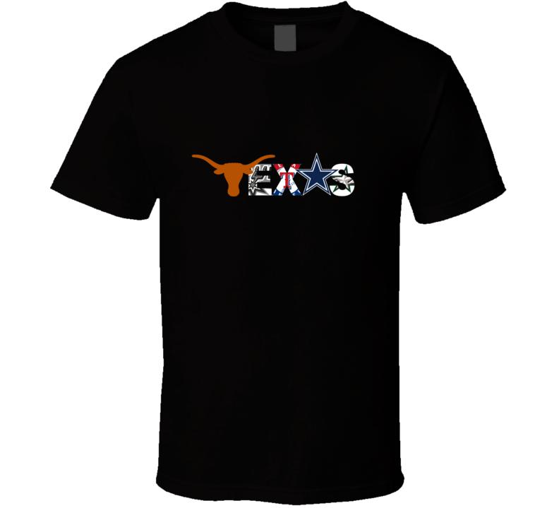 Texas Sports Fan T Shirt