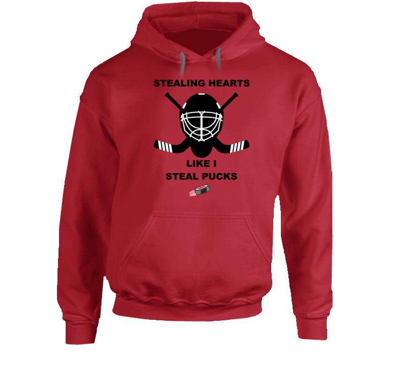 Stealing Hearts Like I Steal Pucks Hoodie