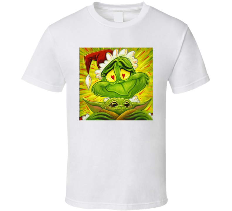 The Grinch Holding Baby Yoda T Shirt