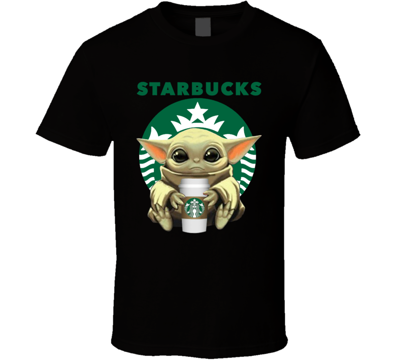 Baby Yoda Drinking Starbucks T Shirt