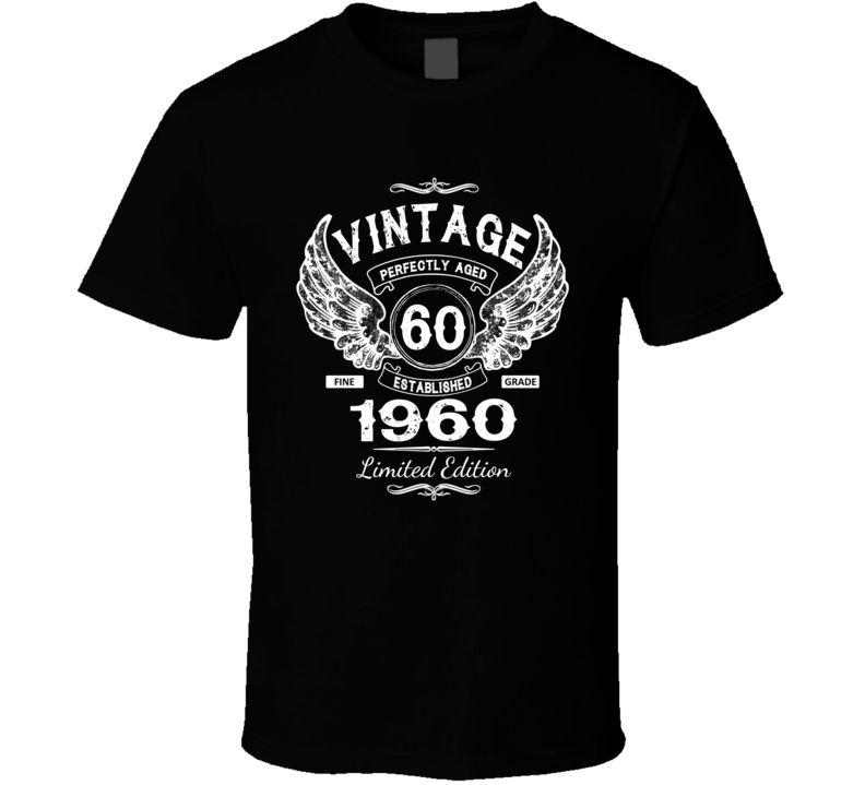 Vintage 1960 Sixty Years Old 60th Birthday T Shirt