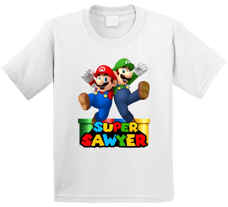 Super Mario Fan Parody (customize Name) Sawyer T Shirt
