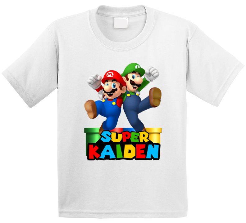 Super Mario Fan Parody (customize Name) Kaiden T Shirt