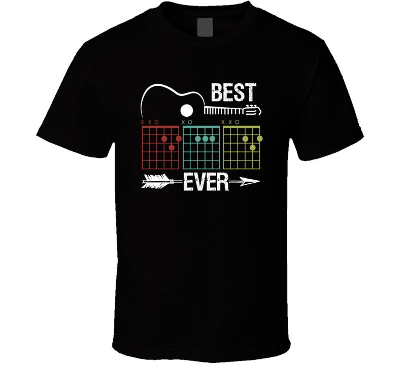 Best Dad Ever Guitar Chords T Shirt