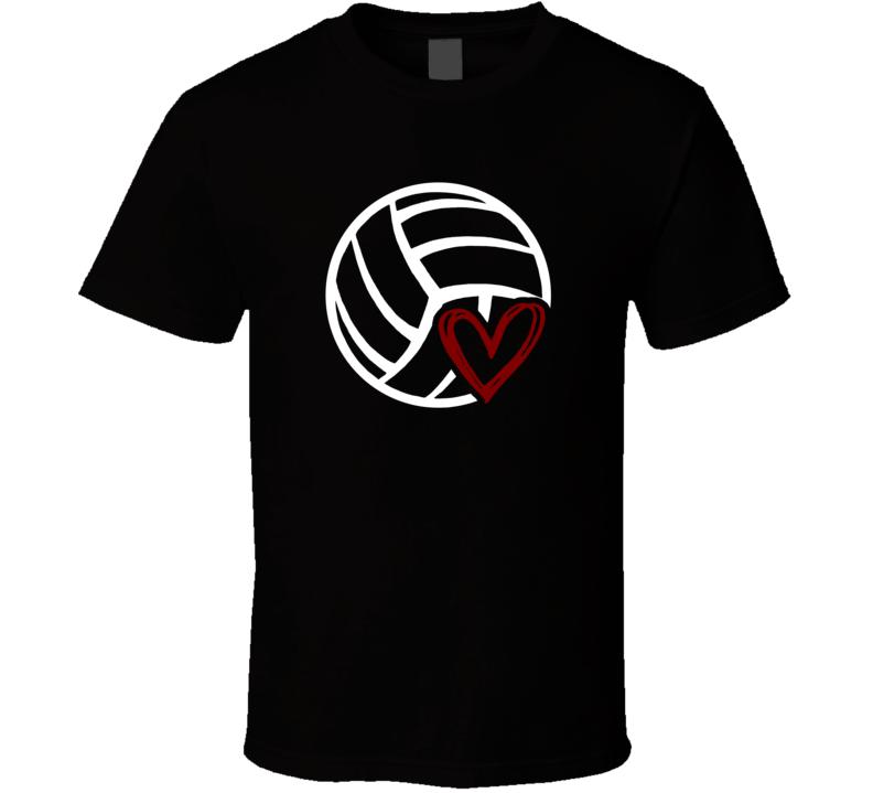 Volleyball Love T Shirt