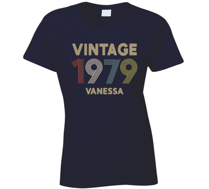 Vintage 1979 With Name Ladies T Shirt