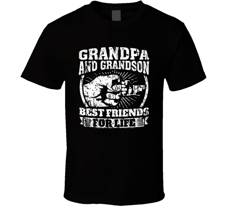 Grandpa And Grandson Best Friends For Life T Shirt