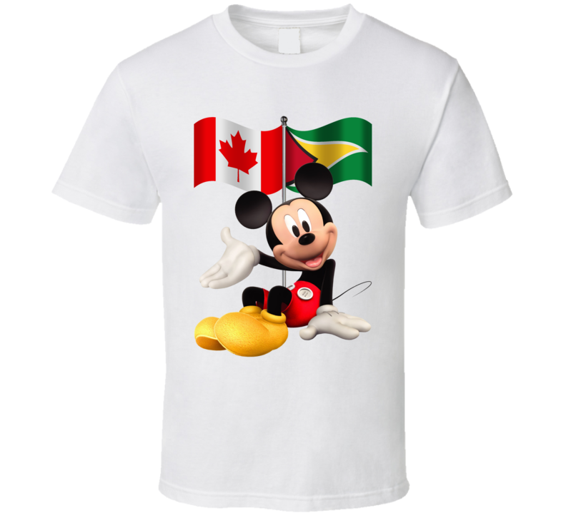 Canadian Guyanese Mickey Mouse Fan T Shirt