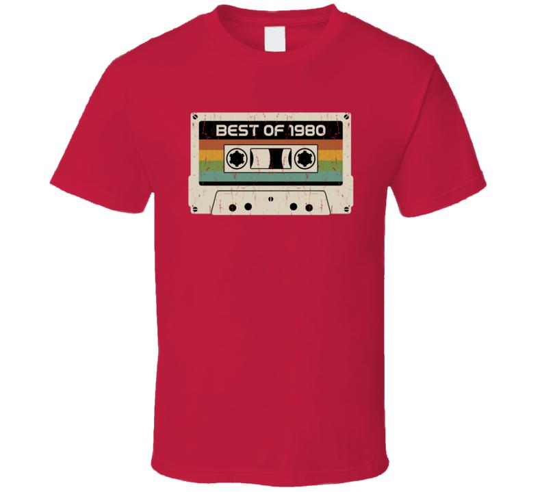 Vintage Cassette Best Of 1980 T Shirt